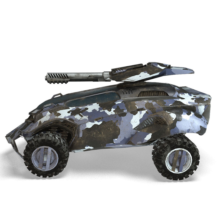 Futuristic Vehicle royalty-free 3d model - Preview no. 3