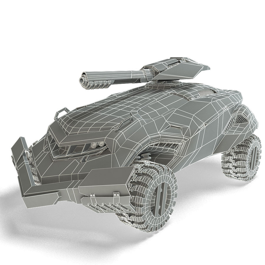 Futuristic Vehicle royalty-free 3d model - Preview no. 13