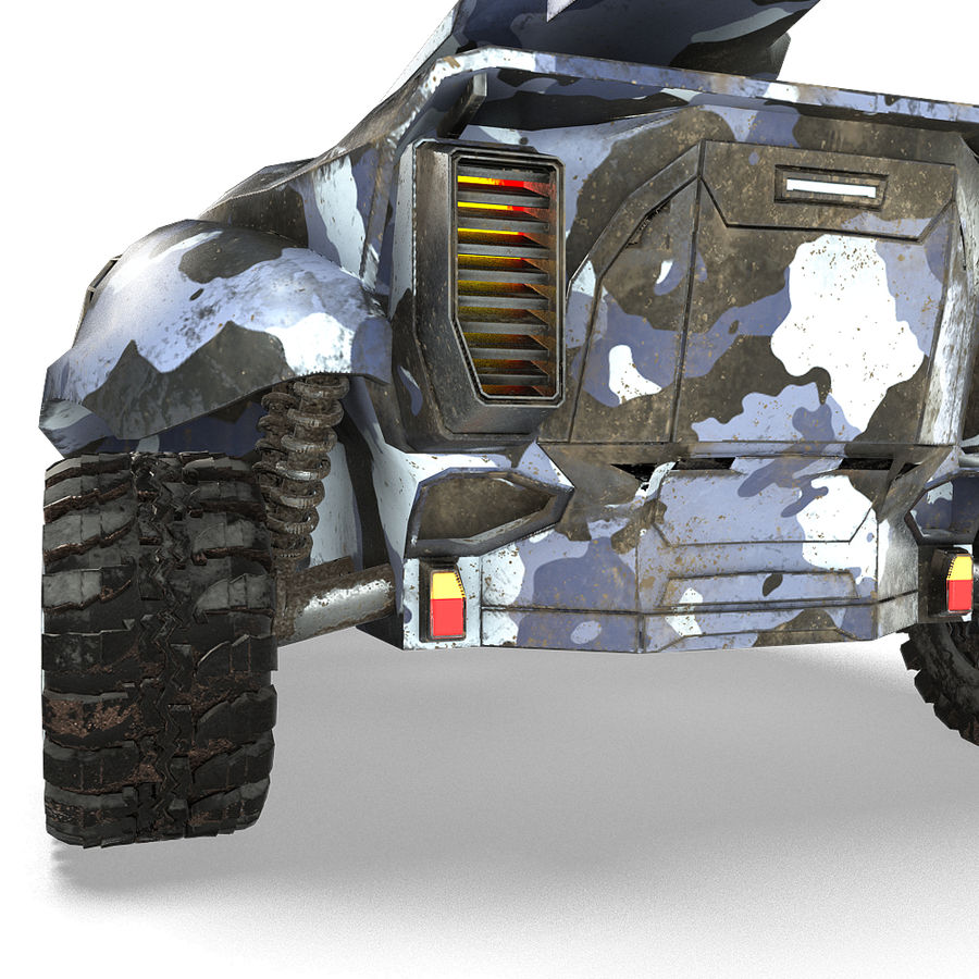 Futuristic Vehicle royalty-free 3d model - Preview no. 10