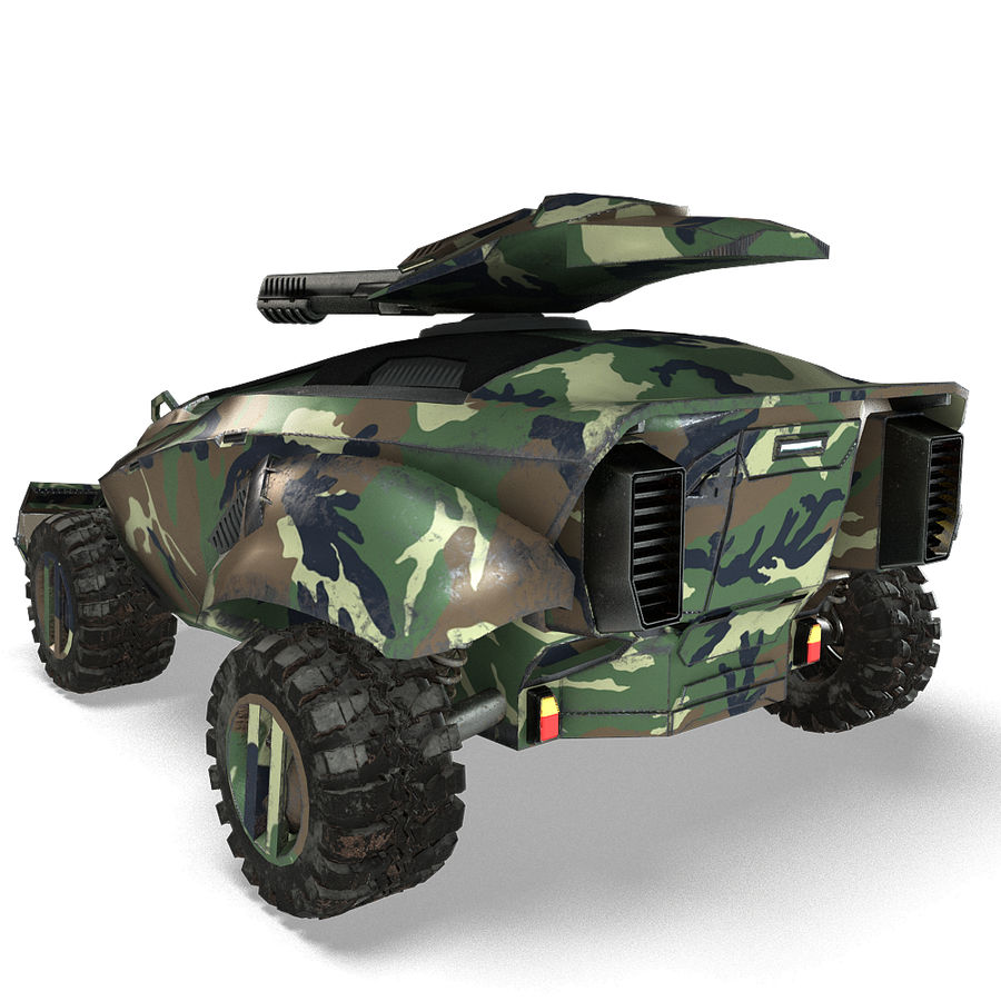Futuristic Vehicle royalty-free 3d model - Preview no. 20