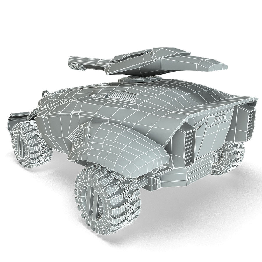 Futuristic Vehicle royalty-free 3d model - Preview no. 14