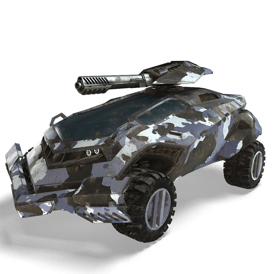 Futuristic Vehicle royalty-free 3d model - Preview no. 2