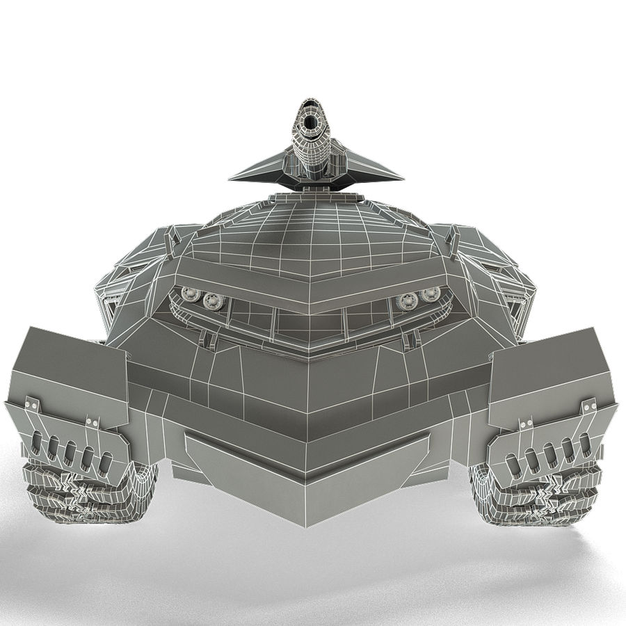 Futuristic Vehicle royalty-free 3d model - Preview no. 16