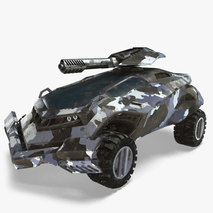 Futuristic Vehicle royalty-free 3d model - Preview no. 1