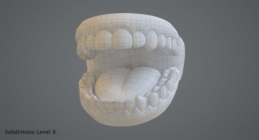 Teeth royalty-free 3d model - Preview no. 12