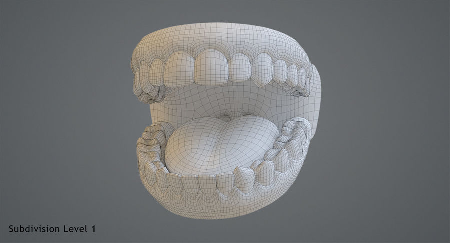 Teeth royalty-free 3d model - Preview no. 13