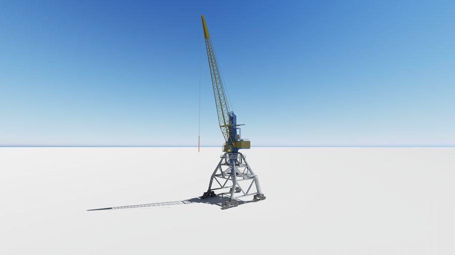 Port crane Ganz royalty-free 3d model - Preview no. 3