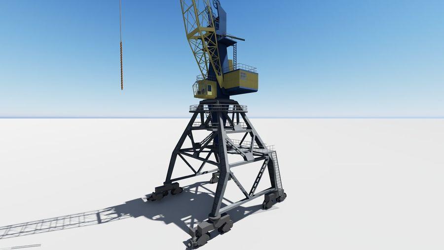 Port crane Ganz royalty-free 3d model - Preview no. 2
