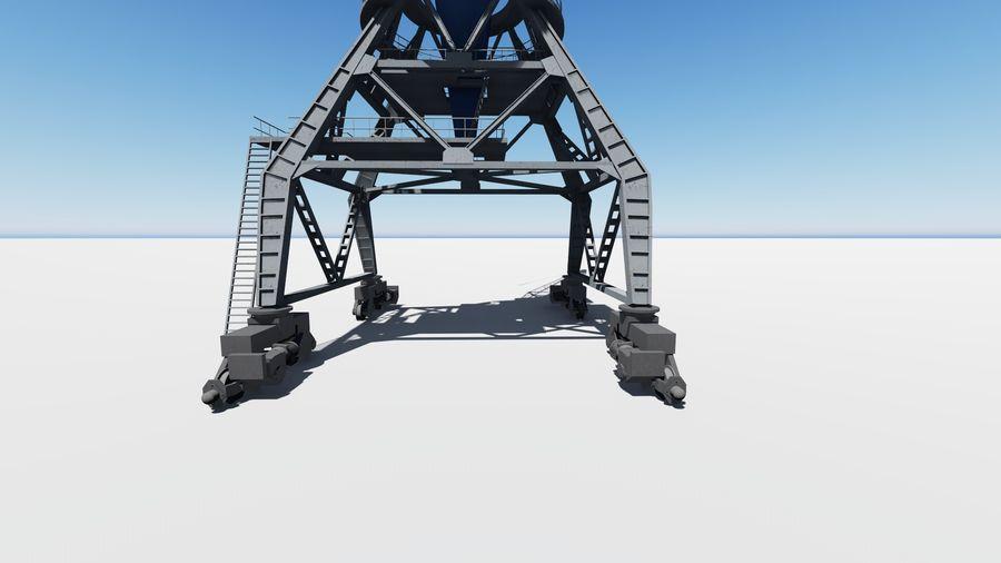 Port crane Ganz royalty-free 3d model - Preview no. 4