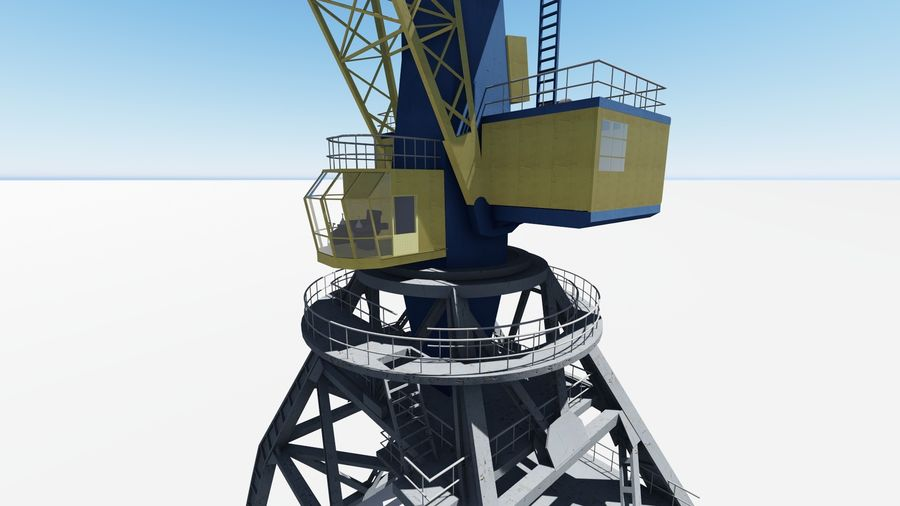 Port crane Ganz royalty-free 3d model - Preview no. 1