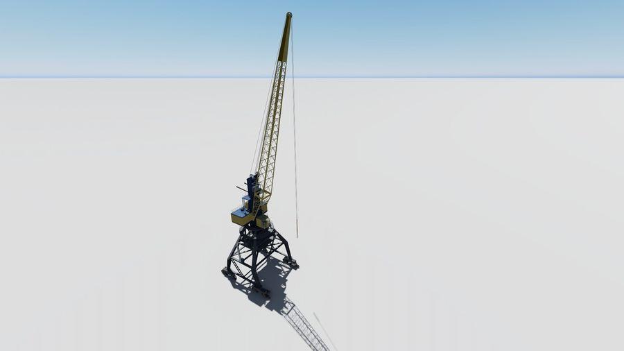 Port crane Ganz royalty-free 3d model - Preview no. 6