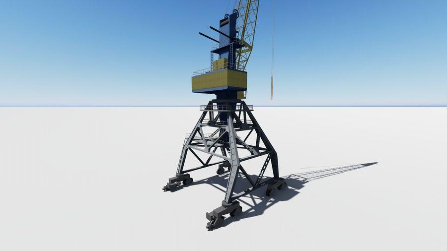 Port crane Ganz royalty-free 3d model - Preview no. 5