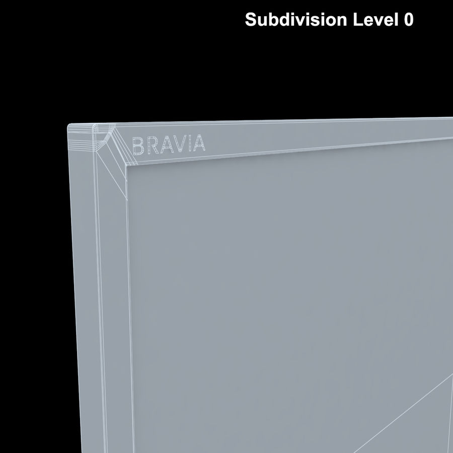 Sony Bravia KDL - 50W805C royalty-free 3d model - Preview no. 21