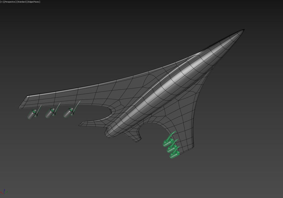 Aircraft Concept royalty-free 3d model - Preview no. 18