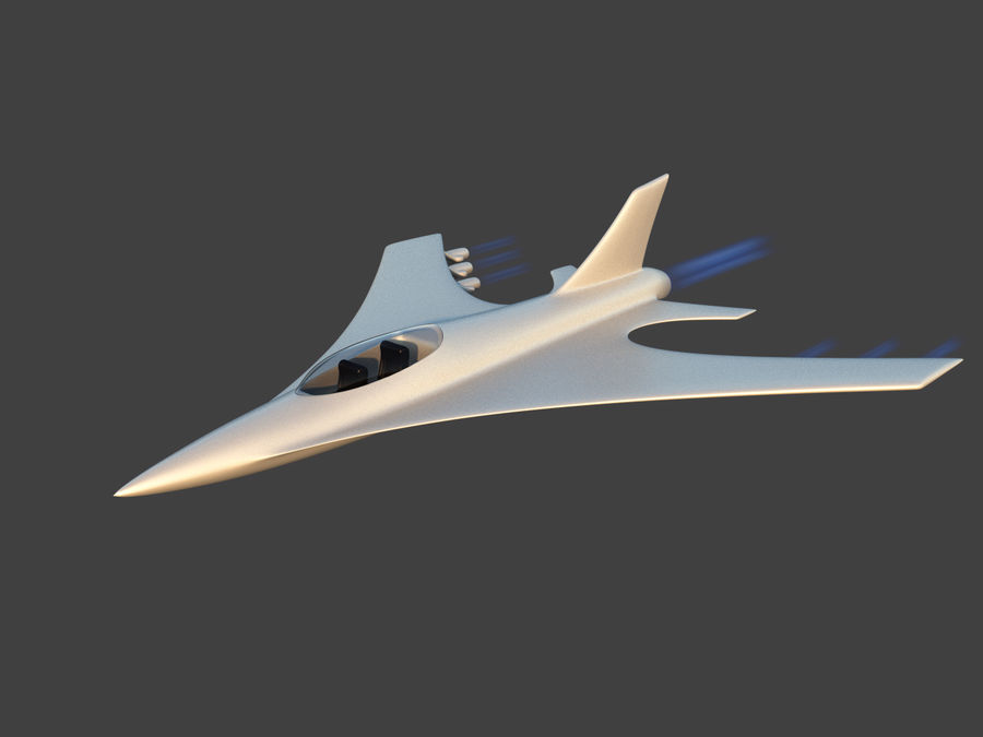Aircraft Concept royalty-free 3d model - Preview no. 6