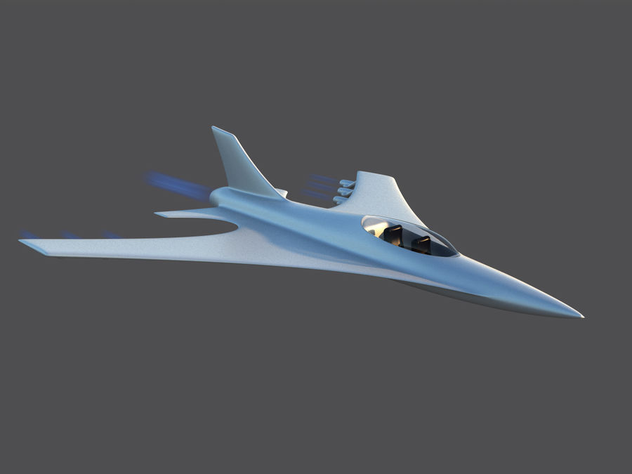 Aircraft Concept royalty-free 3d model - Preview no. 3
