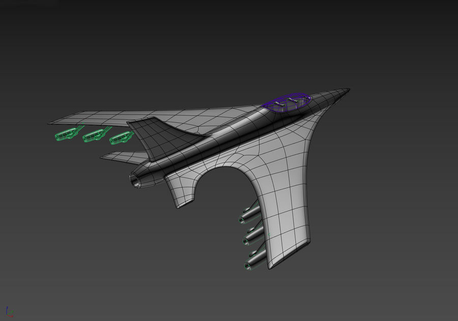 Aircraft Concept royalty-free 3d model - Preview no. 12