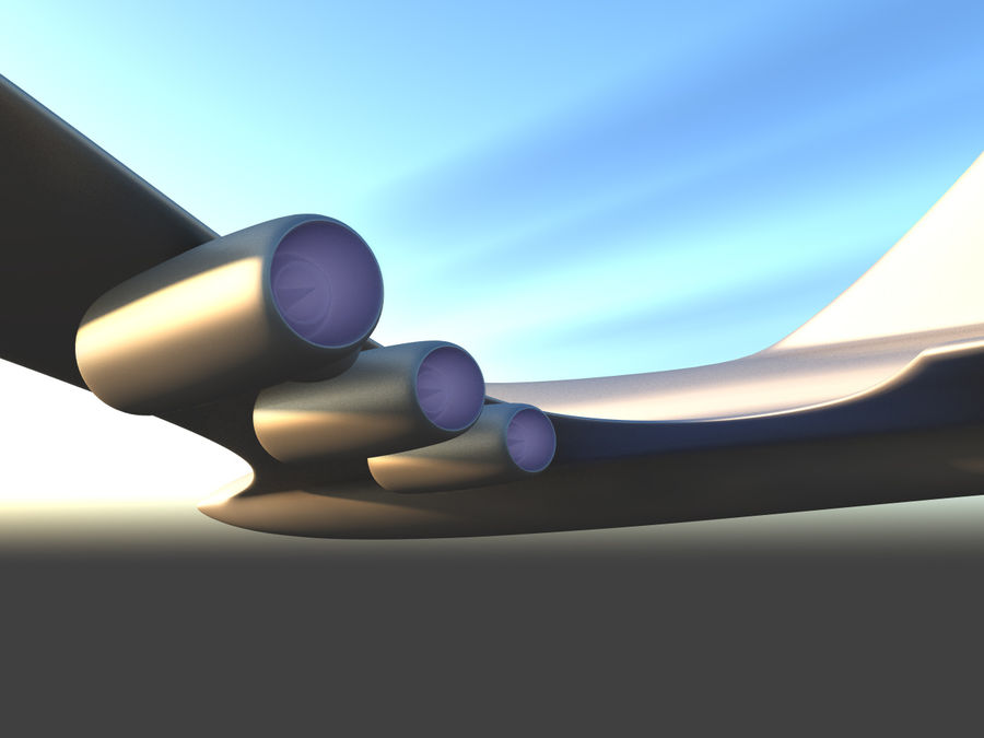 Aircraft Concept royalty-free 3d model - Preview no. 8