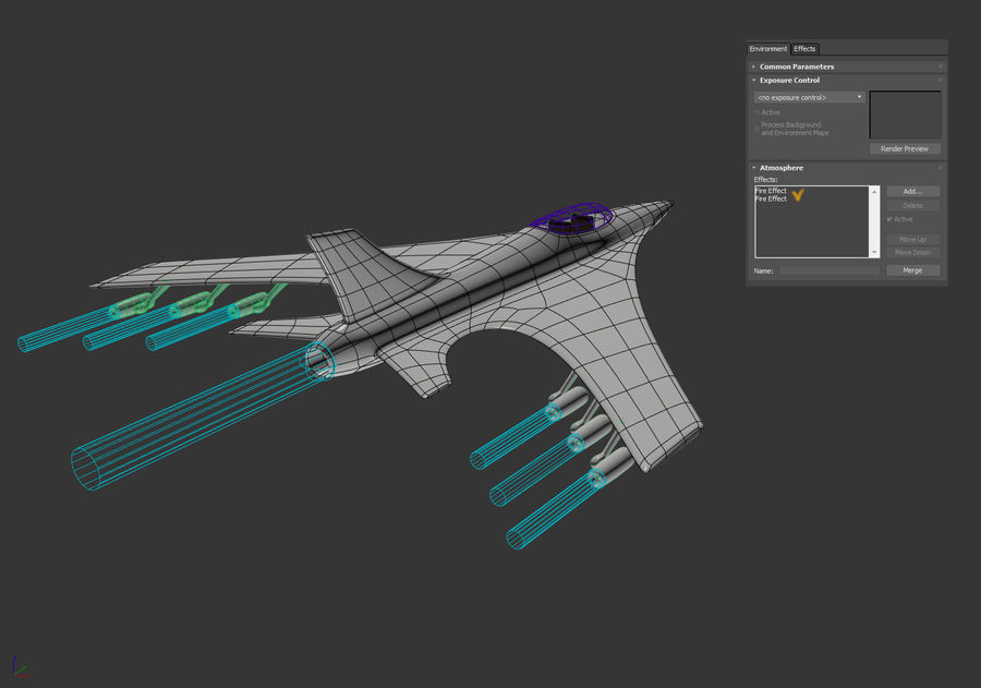 Aircraft Concept royalty-free 3d model - Preview no. 21