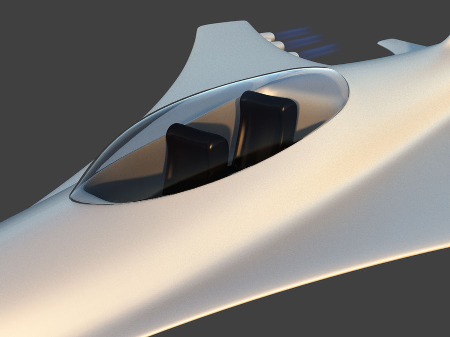 Aircraft Concept royalty-free 3d model - Preview no. 7