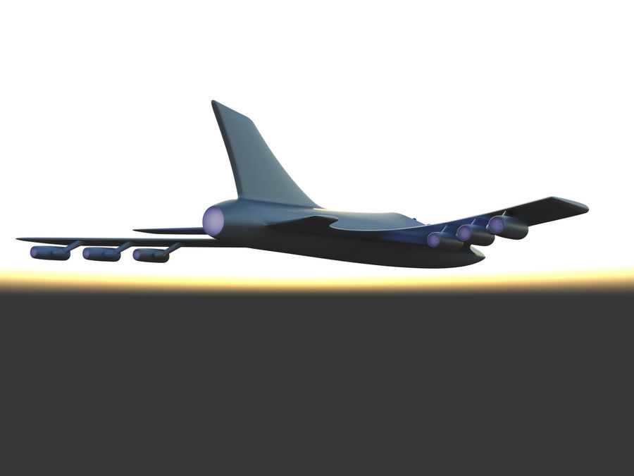 Aircraft Concept royalty-free 3d model - Preview no. 4