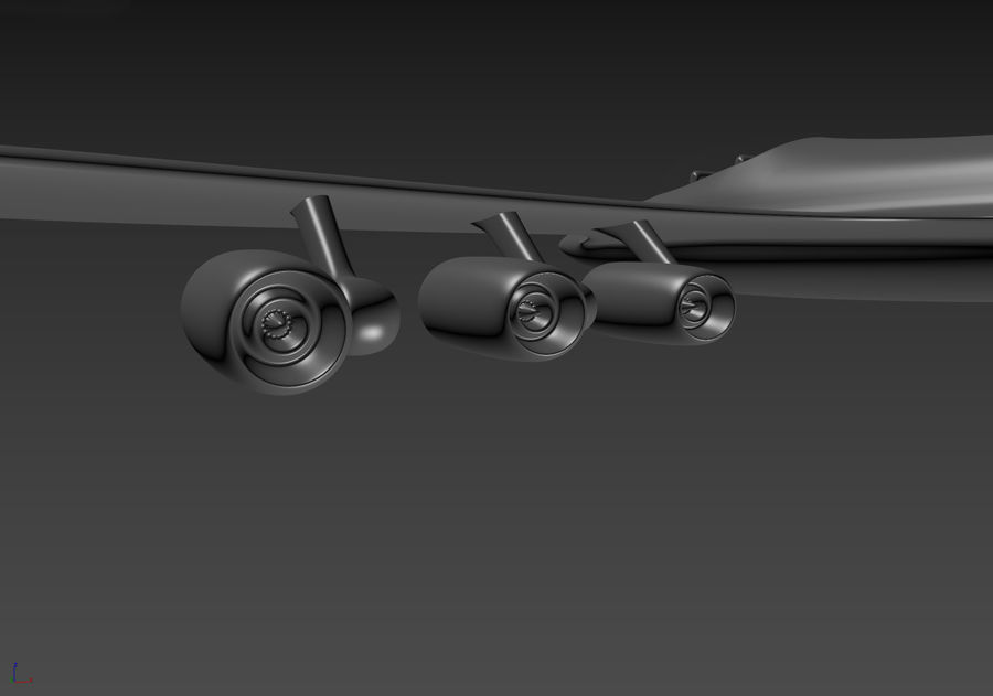 Aircraft Concept royalty-free 3d model - Preview no. 13