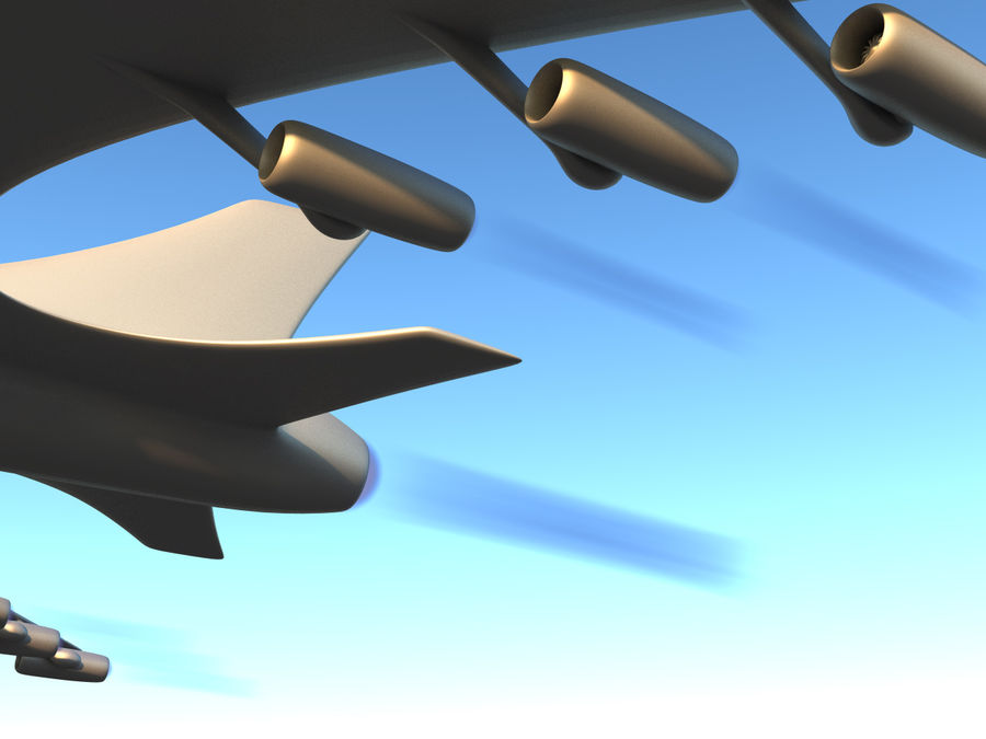 Aircraft Concept royalty-free 3d model - Preview no. 9