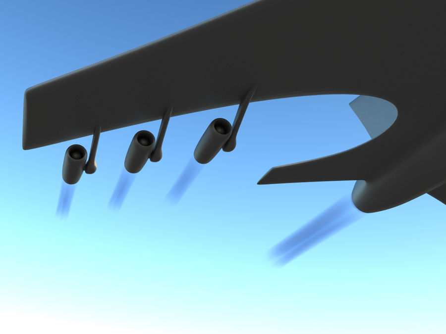 Aircraft Concept royalty-free 3d model - Preview no. 5