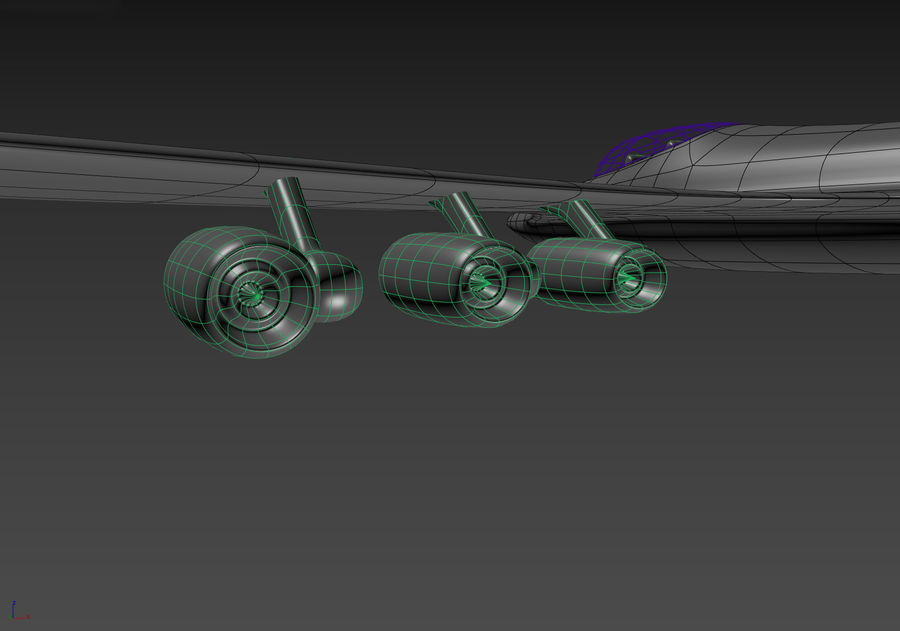 Aircraft Concept royalty-free 3d model - Preview no. 14