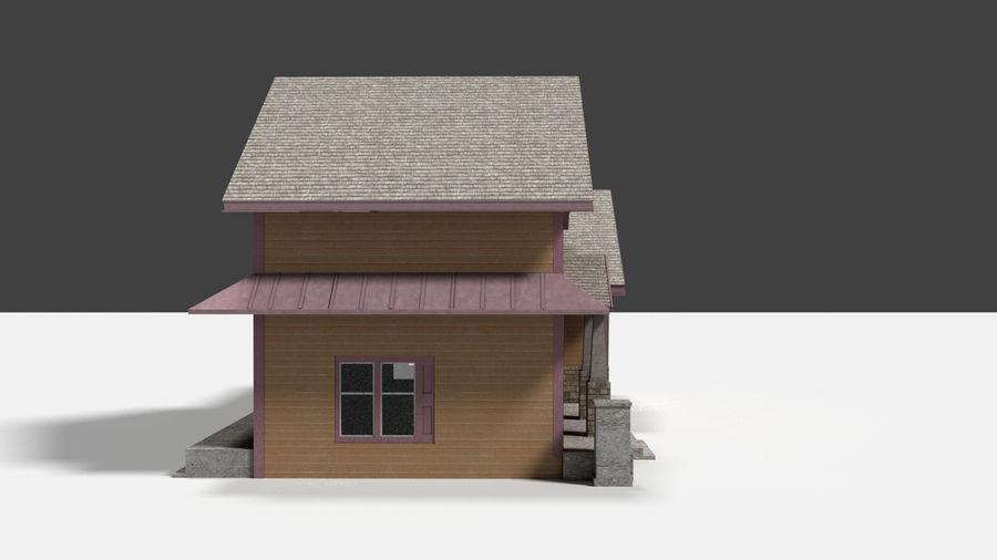 aktywa domu na przedmieściach royalty-free 3d model - Preview no. 7