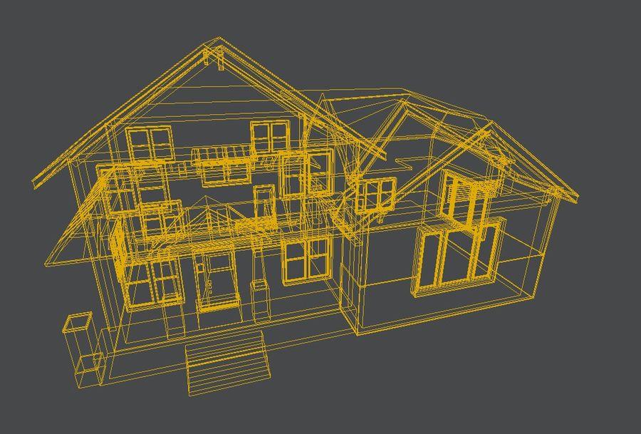 aktywa domu na przedmieściach royalty-free 3d model - Preview no. 10