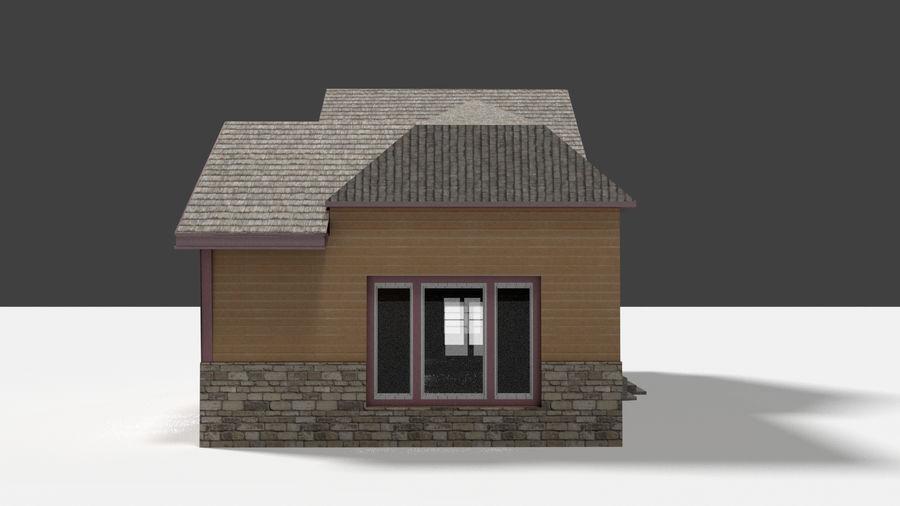 aktywa domu na przedmieściach royalty-free 3d model - Preview no. 3