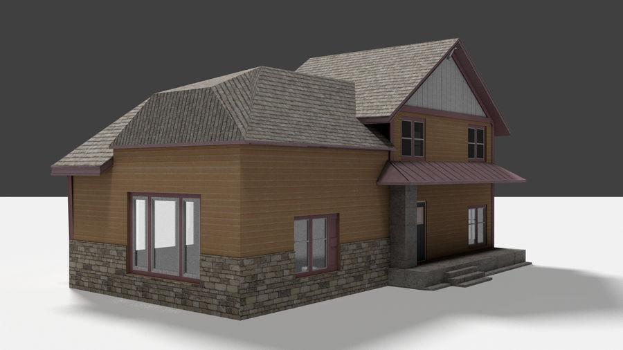 aktywa domu na przedmieściach royalty-free 3d model - Preview no. 4