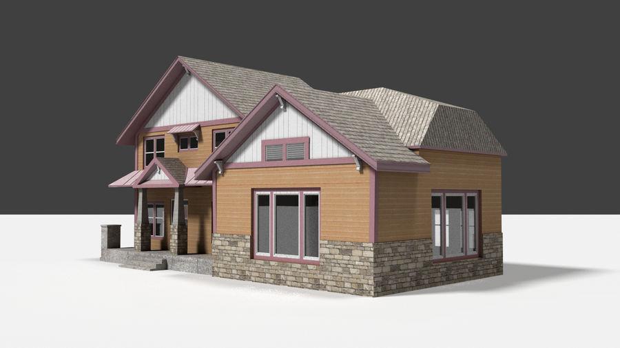aktywa domu na przedmieściach royalty-free 3d model - Preview no. 2