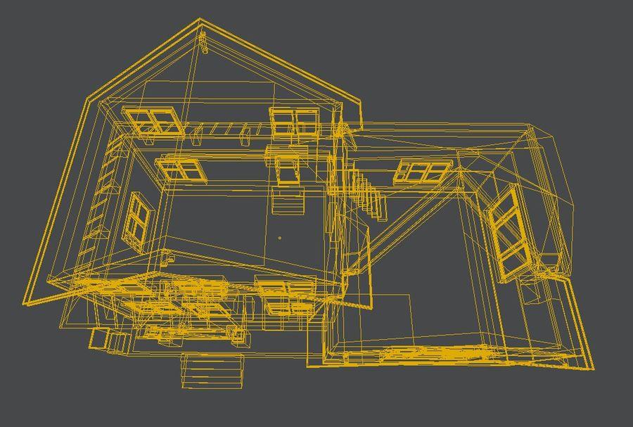 aktywa domu na przedmieściach royalty-free 3d model - Preview no. 9