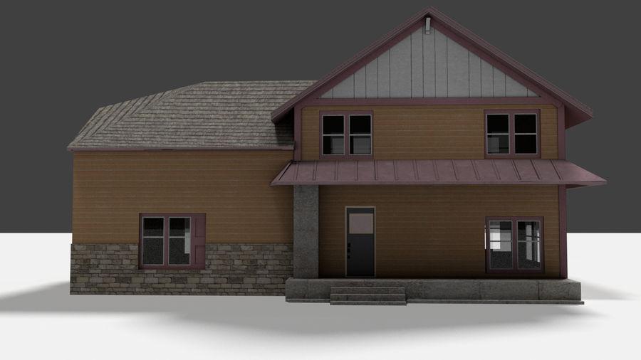 aktywa domu na przedmieściach royalty-free 3d model - Preview no. 5