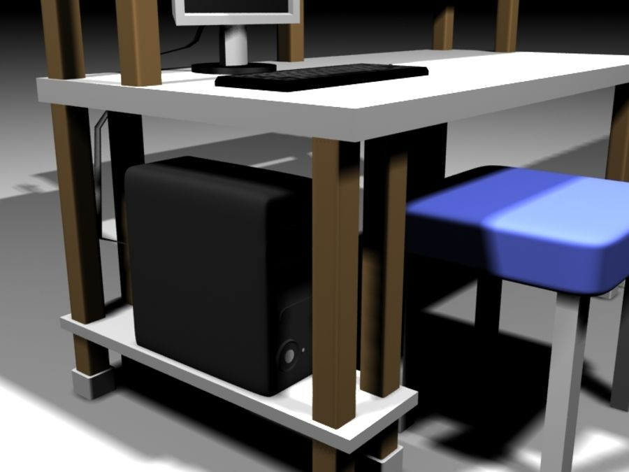 Desktop Table royalty-free 3d model - Preview no. 4