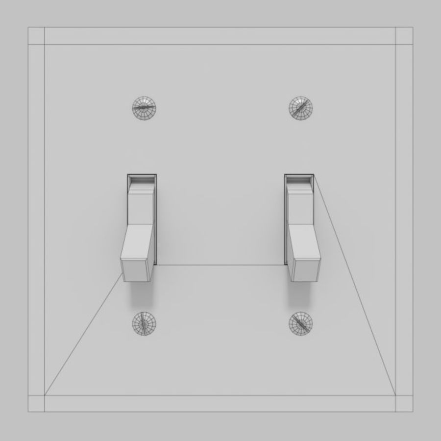 Light Switch royalty-free 3d model - Preview no. 2