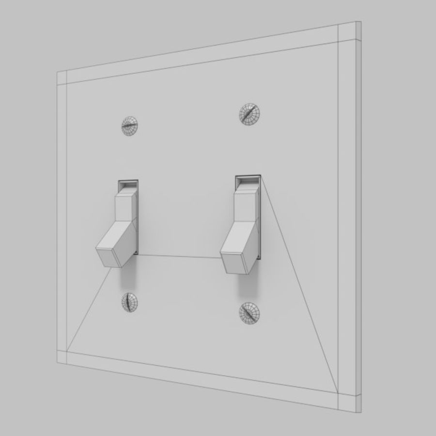 Light Switch royalty-free 3d model - Preview no. 3
