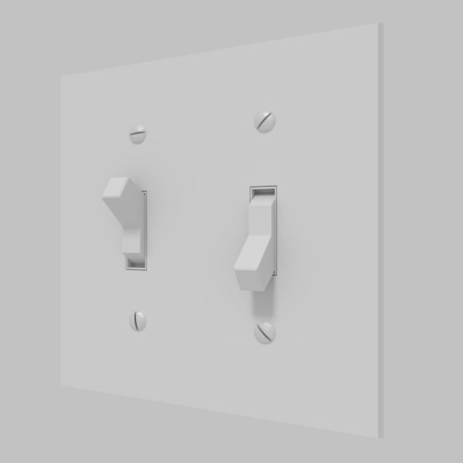 Light Switch royalty-free 3d model - Preview no. 5