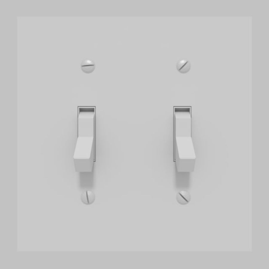 Light Switch royalty-free 3d model - Preview no. 1