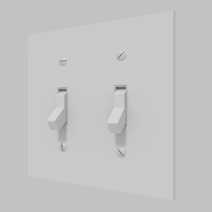 Light Switch royalty-free 3d model - Preview no. 4