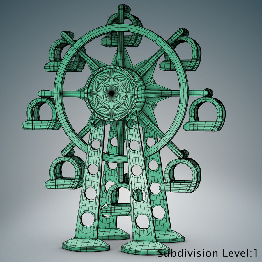 Tolo Toy Ferris wheel royalty-free 3d model - Preview no. 9
