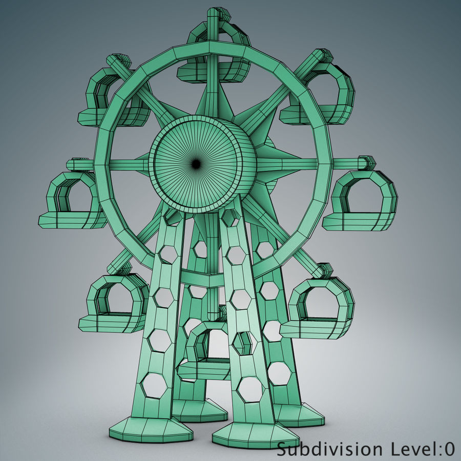 Tolo Toy Ferris wheel royalty-free 3d model - Preview no. 10