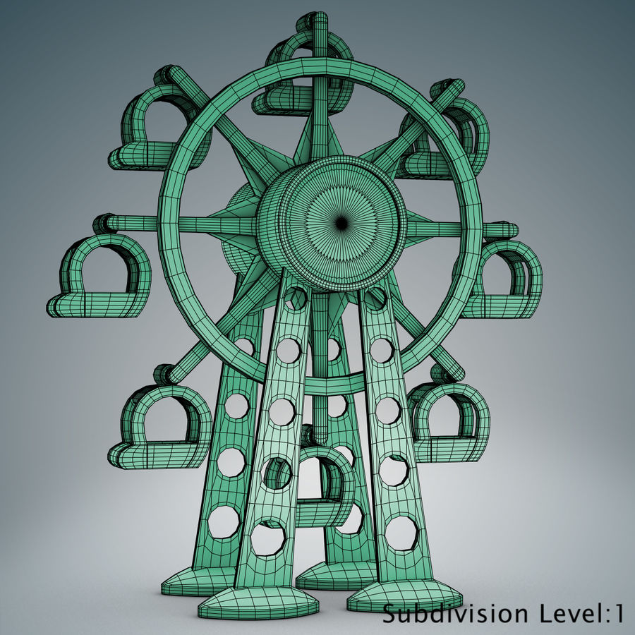 Tolo Toy Ferris wheel royalty-free 3d model - Preview no. 11