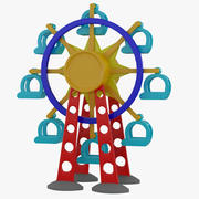 Tolo Toy Ferris wheel 3d model