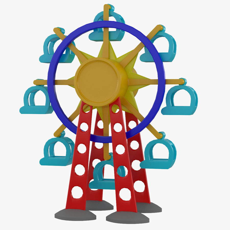Tolo Toy Ferris wheel royalty-free 3d model - Preview no. 1