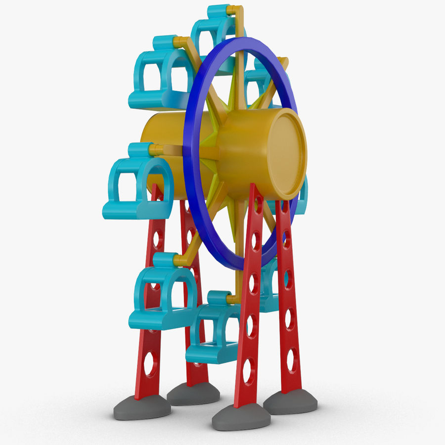 Tolo Toy Ferris wheel royalty-free 3d model - Preview no. 3