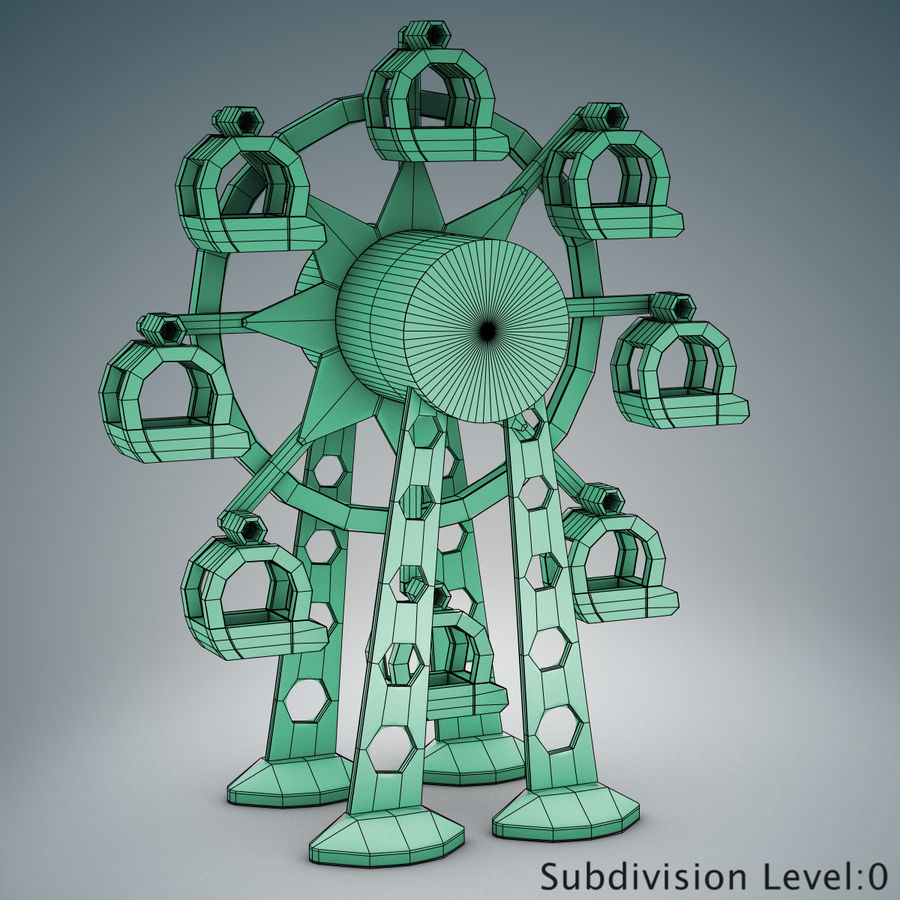 Tolo Toy Ferris wheel royalty-free 3d model - Preview no. 18