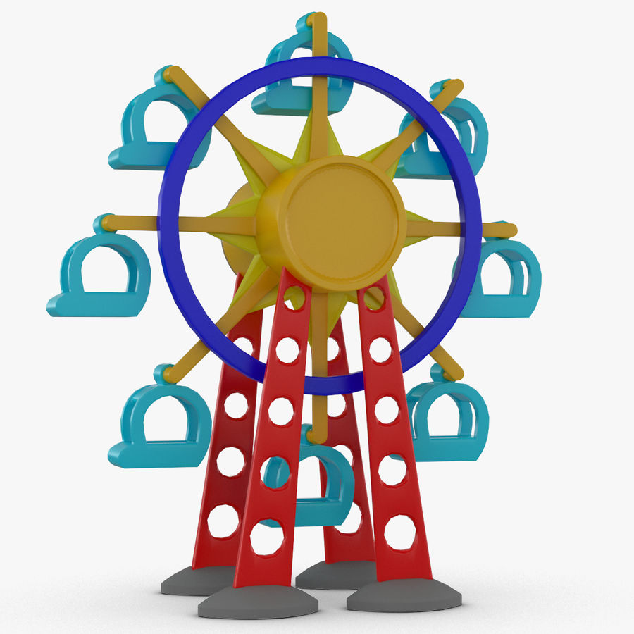 Tolo Toy Ferris wheel royalty-free 3d model - Preview no. 2